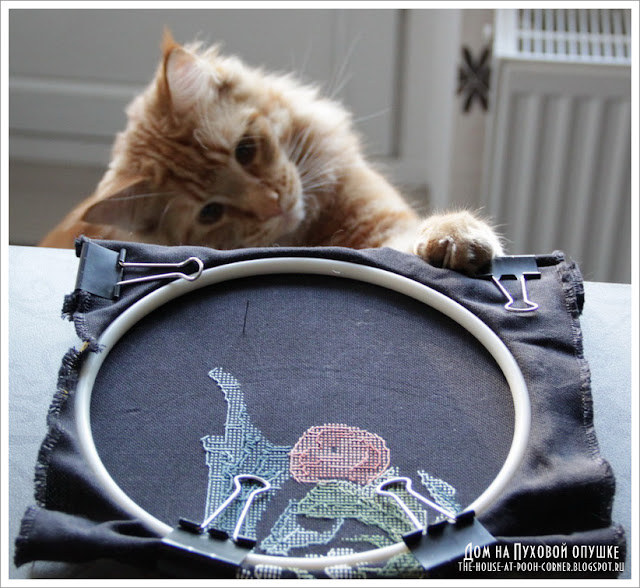 панель вышивка