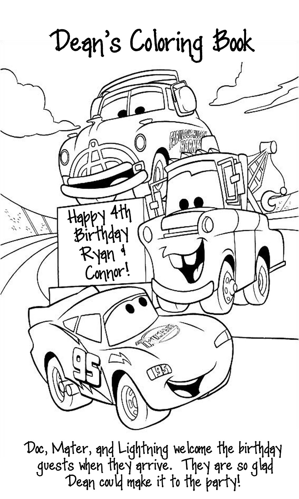 Radiator Springs Coloring Pages, Radiator, Free Engine