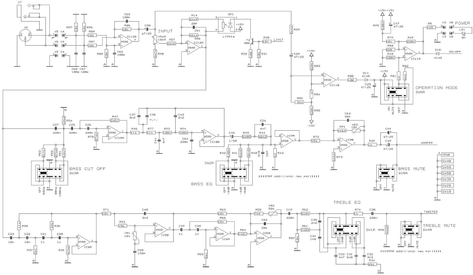 behringer b2031 schematic active 2 way reference studio monitor rh schematicscom blogspot com Cat 5 Wiring Diagram Cat 5 Crossover Cable Diagram