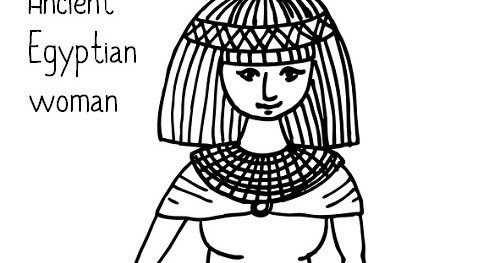 wordgirl coloring pages | Paper Dali: Ancient Egypt: Woman