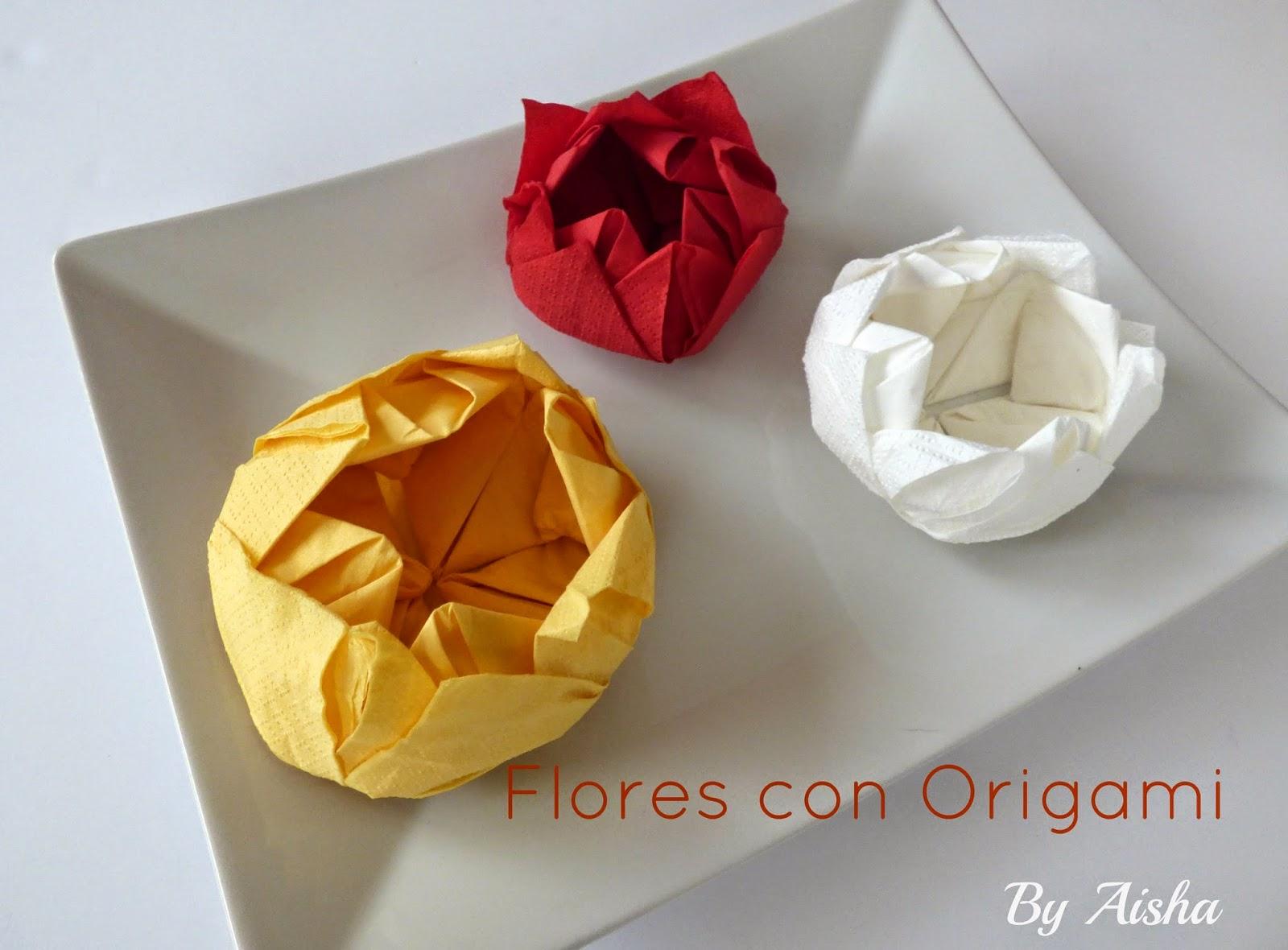 Tutorial , como hacer flores con origami fáciles