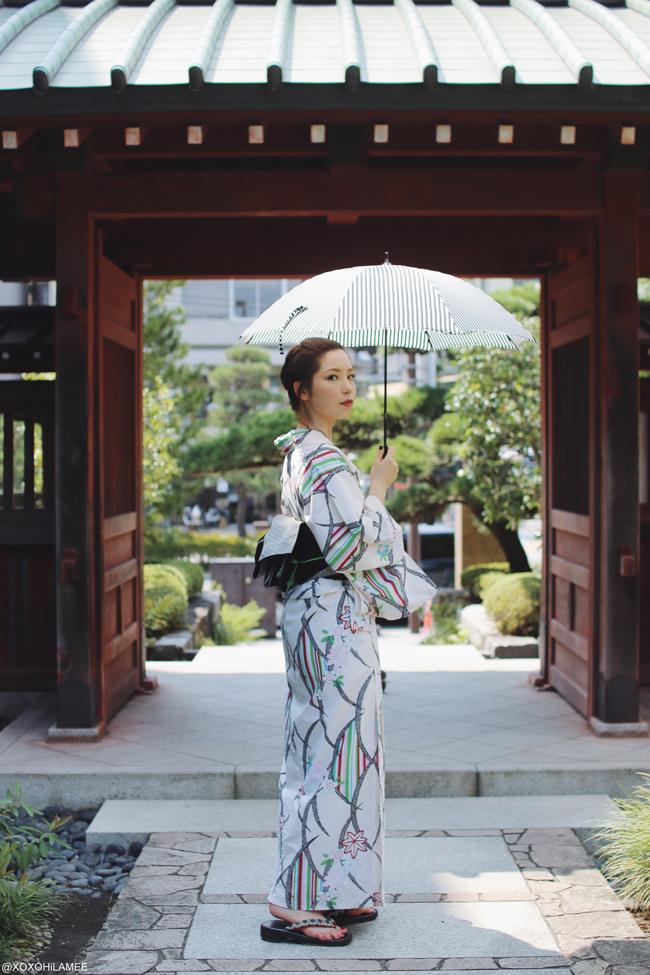 日本人ファッションブロガー,Mizuho K,今日のコーデ,鎌倉レンタル浴衣、大人可愛いコーデ 鎌倉花火大会、