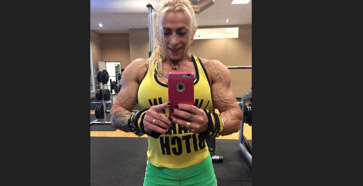 Video huge female bodybuilding muscular female