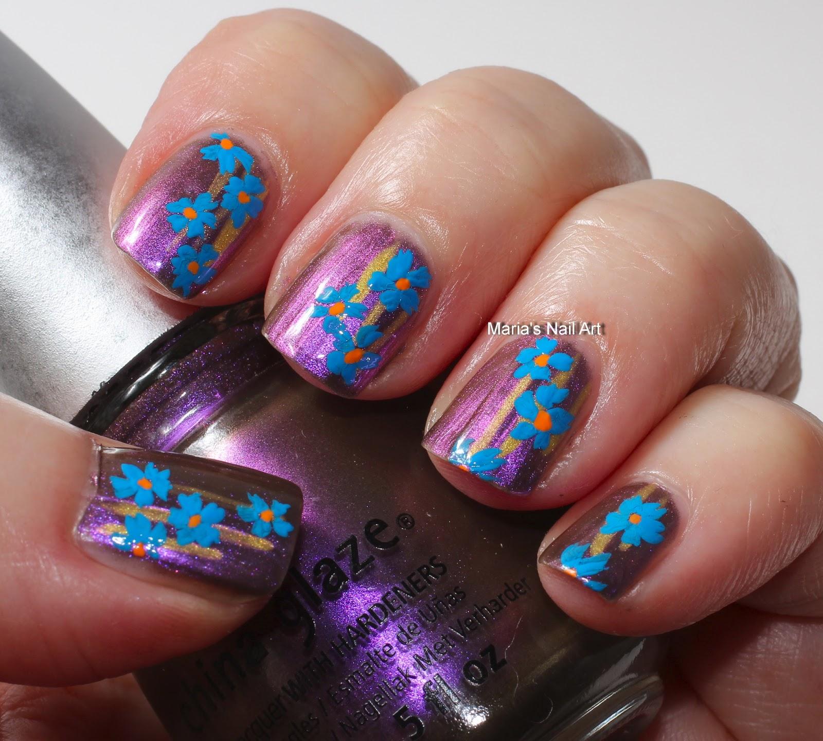 Marias Nail Art And Polish Blog Plain Flowers For Jane