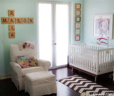 belle maison: Reader Room Design: A Chic Nursery for Twins
