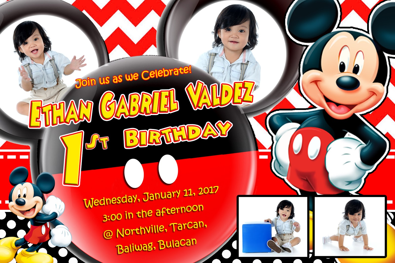 first birthday mickey mouse themes