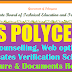 TS POLYCET 2018 Web Counselling, web options, Certificates Verification Schedule, Procedure & Documents Required