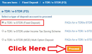 how to open e fixed deposit in sbi online