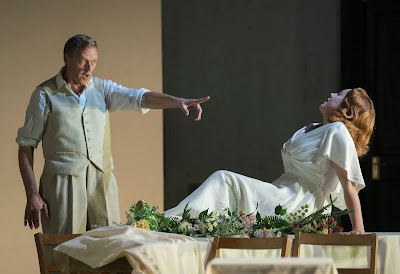 Opera North's production of Janáček's Osud, Autumn 2017 John Graham-Hall as Živný and Giselle Allen as Míla Valková (Photo Alastair Muir)