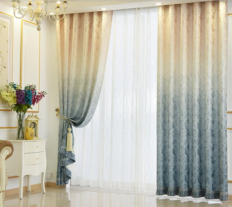 Floral Curtains Living Room Decor