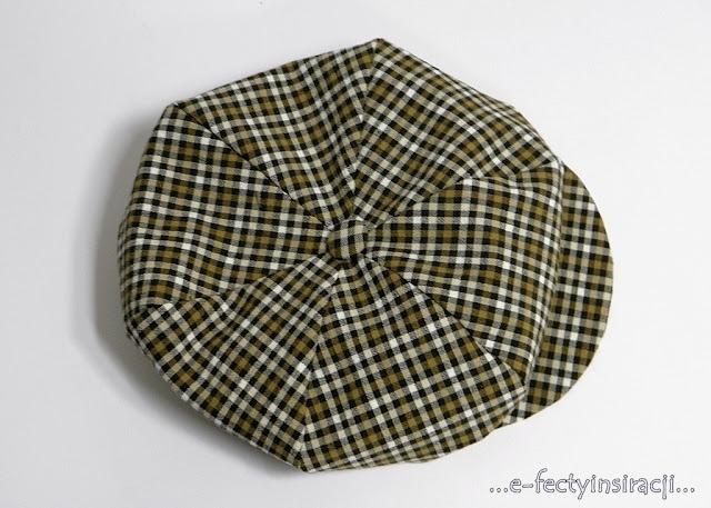 e-fectyinspiracji, kaszkiet, cyklistówka, jak uszyć, czapka z daszkiem dla chłopca, odzież dziecięca, retro, czapka w kratkę