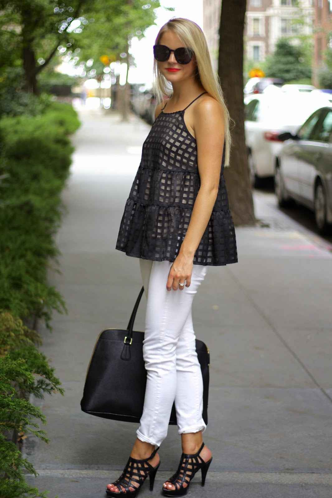 anthropologie swing pane tank, black and white outfit inspiration, styles, swingpane tank,