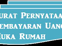 Contoh Surat Pernyataan Pembayaran Uang Muka/Tanda Jadi keterangan lengkap