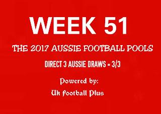 Week 51 Aussie football pools draws and details