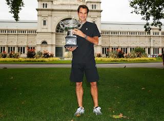 Roger Federer Australian Open 2017 Champion Photocall