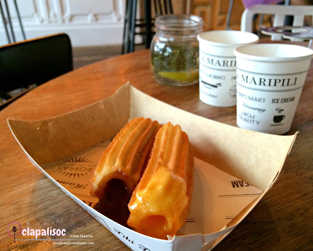 Churros filled with Sweet Filling from La Maripili Churreria