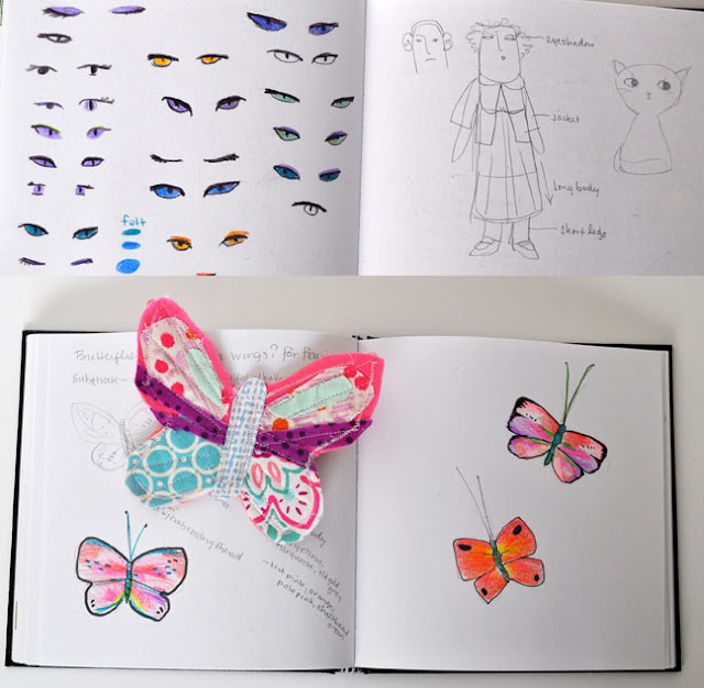 Sharon Rohloff, Sketchbooks, Pink Ginger Kitty, Handmade Dolls, Sketchbook Conversations
