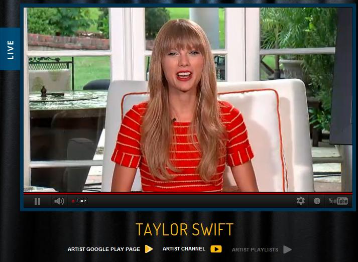 Country Routes News Taylor Swift Youtube Webcast It S Simply Red