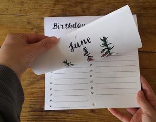 Birthday Calendar or Special Events Calendar by Alice Draws The Line inside