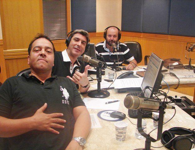 """O trio do humorístico do """"Na Geral"""", Beto Hora, José Paulo da Glória e Lélio Teixeira: em busca de nova emissora"""