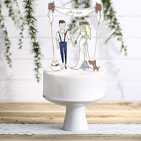 cake topper my love love & confetti