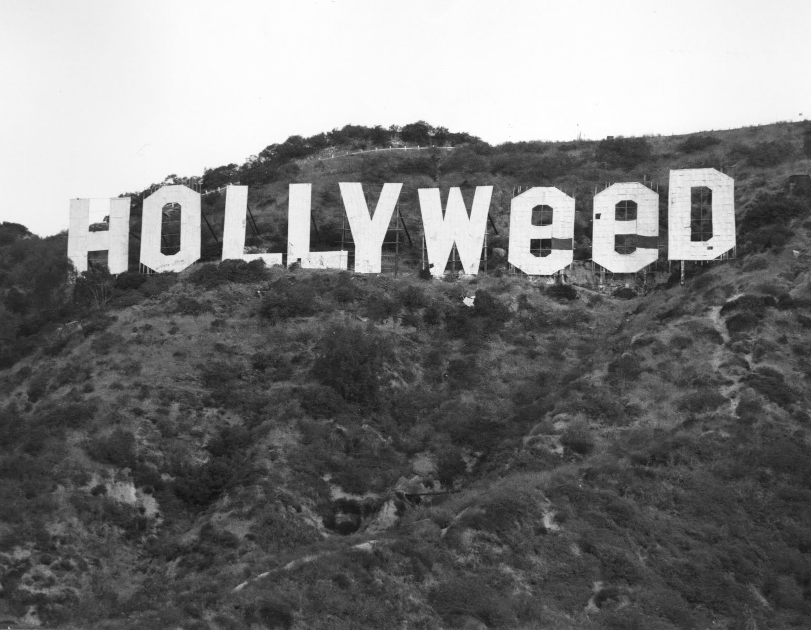 On New Years Day 1976 A Man Changed The Hollywood Sign To Hollyweed Celebrate Decriminalization Of Marijuana