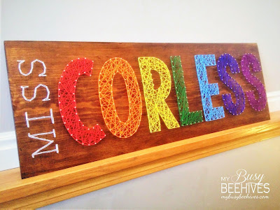String Art Signs for Teachers