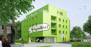 Live algae powered aparment building