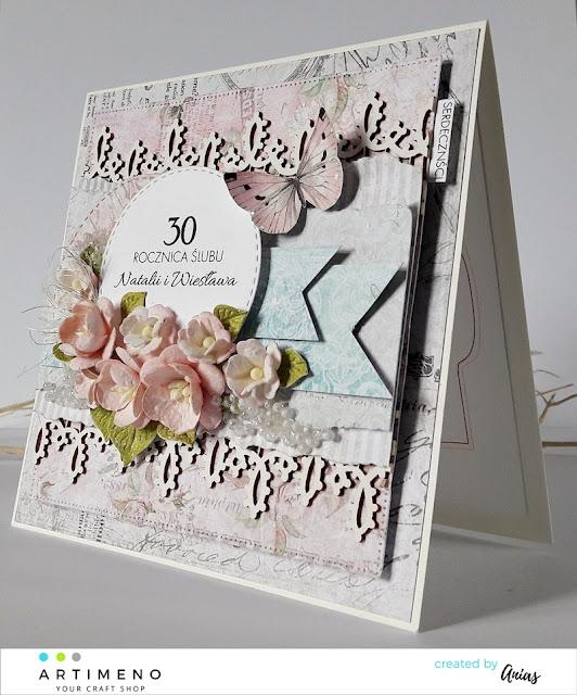 kwiaty na kartce