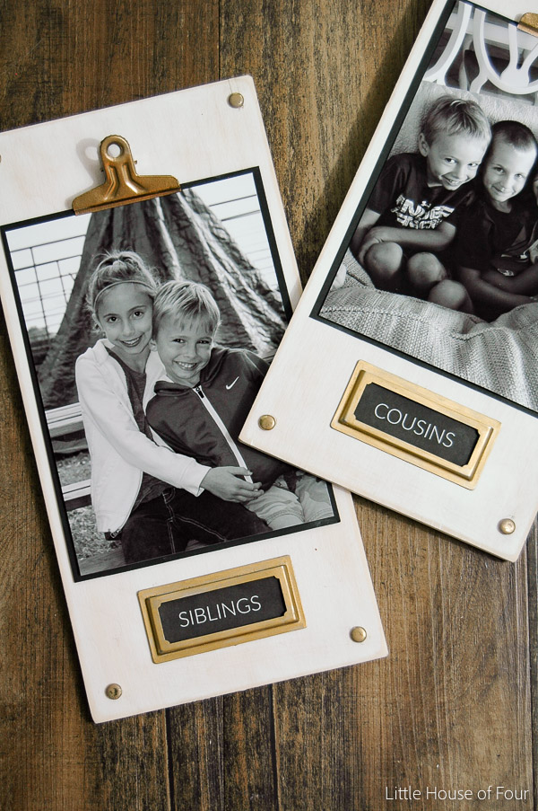 DIY wood photo plaques