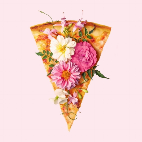 """Floral Pizza"" por Paul Fuentes 