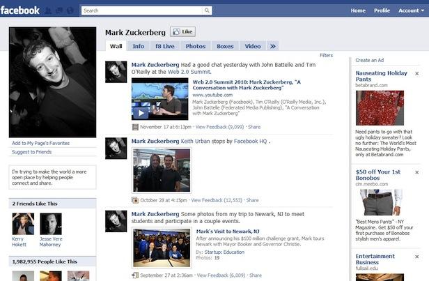 Evolusi Desain Facebook tahun 2009