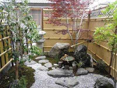 รั้วไม้ไผ่สไตล์ญี่ปุ่น