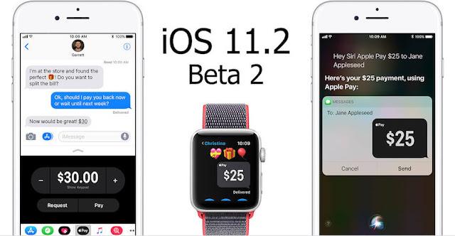 ابل تطلق iOS 11.2 beta 2 مع خاصية الدفع المباشر Apple Pay Cash