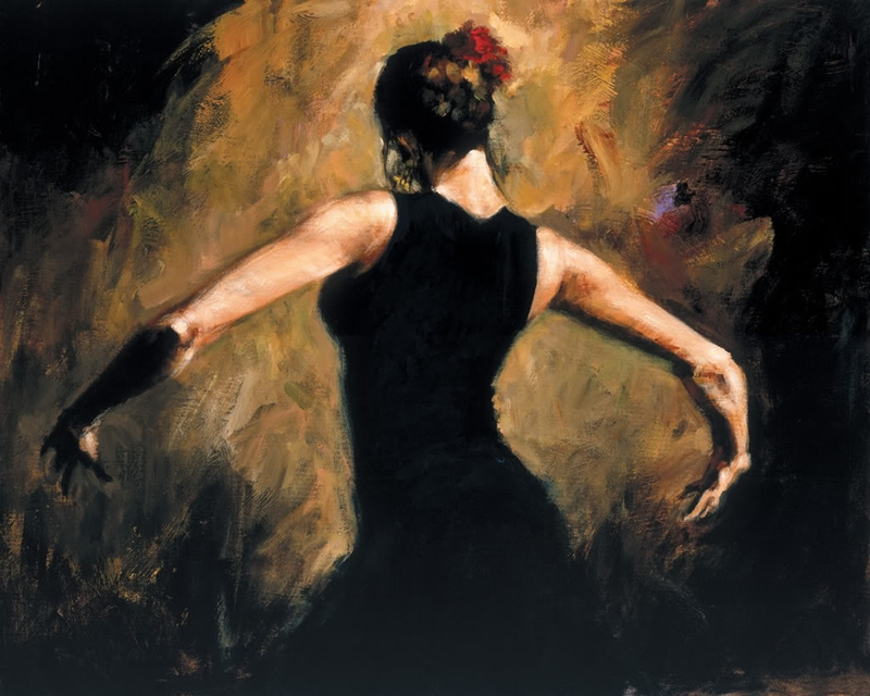 Fabian Perez 1967 ~ Argentine Figurative painter | Flamenco Dancers