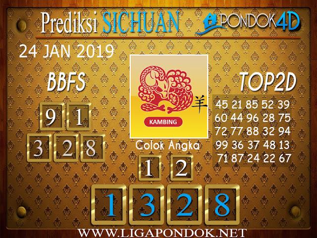 Prediksi Togel SICHUAN PONDOK4D 24 JANUARI 2019