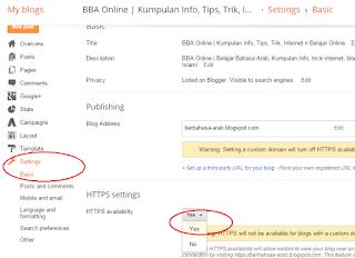 Cara mengaktifkan https pada blogger dan meredirect secara otomatis https.