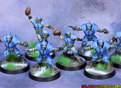 [Painting commission] Equipe humaine pour bloodbowl, tabletop +.