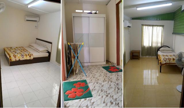 Guest House katil King Queen size, fully air-conditioned, Homestay di Bandar Hilir Melaka, Homestay Murah di Bandar Melaka, Homestay Muslim murah bersih selesa di Melaka