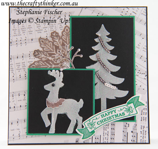 #thecraftythinker, #christmascard, #cardmaking, #embossingpaste, Christmas card, Card Front Builder, Stampin' Up Australia Demonstrator, Stephanie Fischer, Sydney NSW