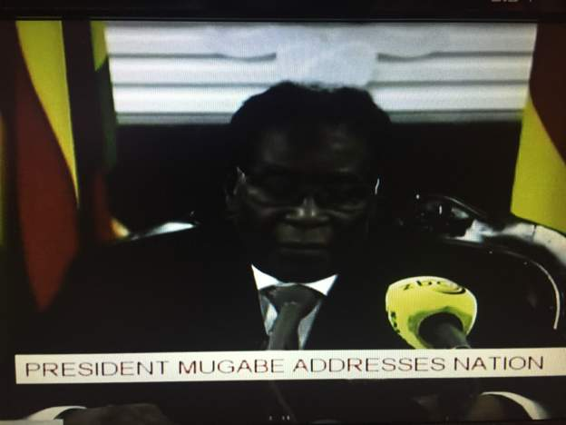 Robert Mugabe finally steps down after breaking down in tears and weeping for his first wife and dead son