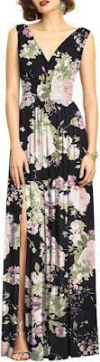 image result Dessy Collection Surplice Ruched Chiffon Gown