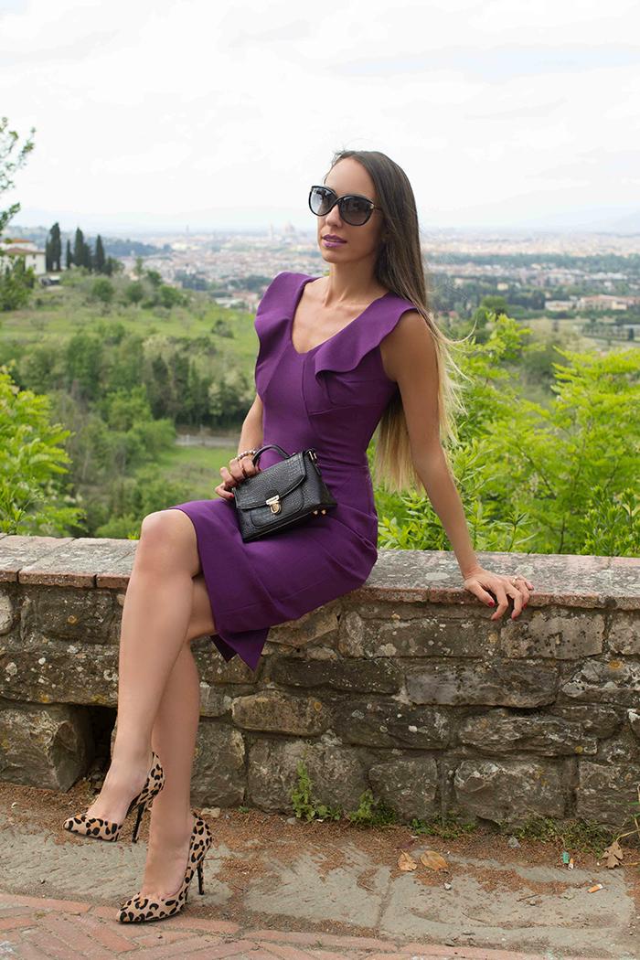 come indossare il viola