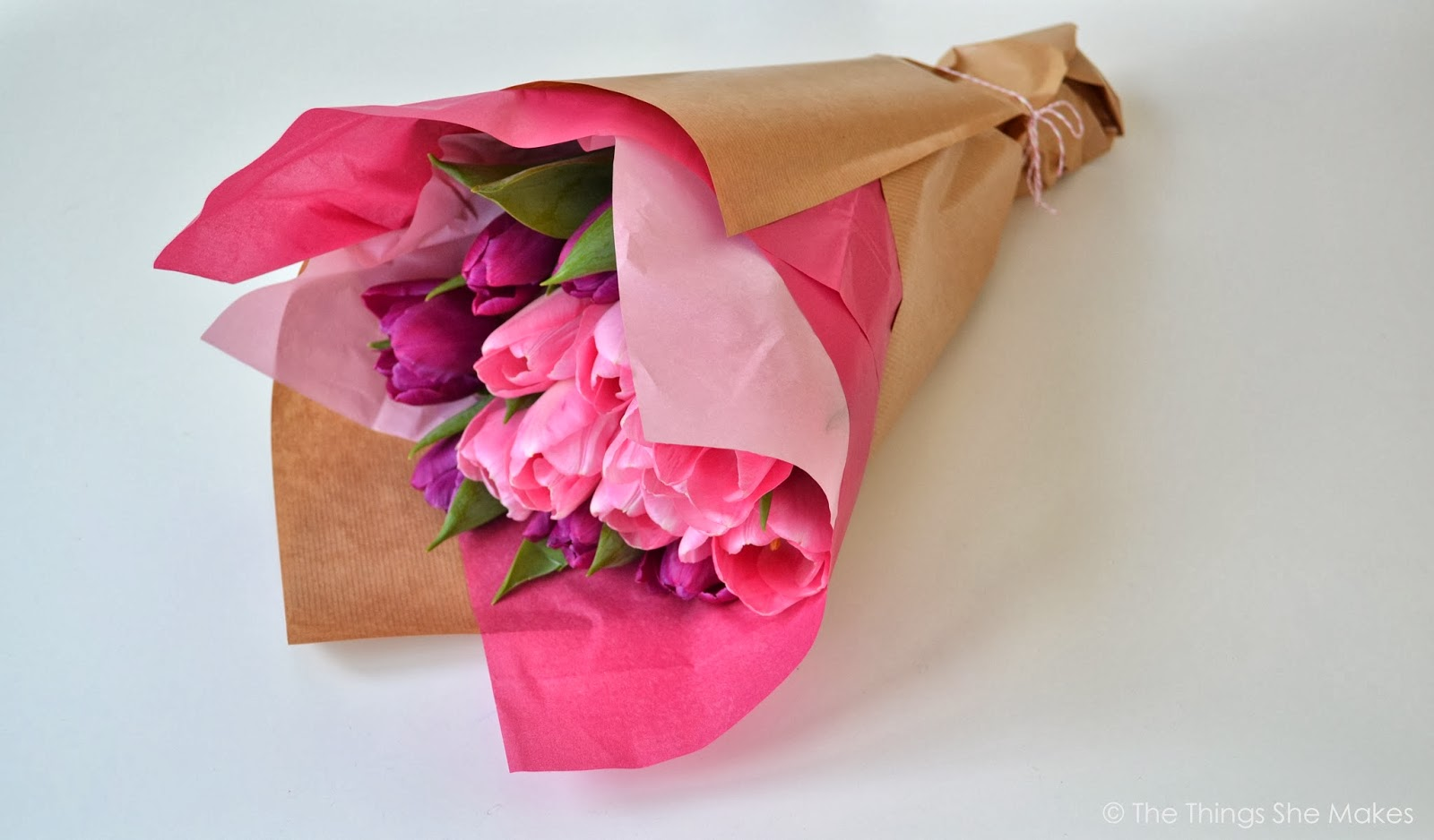 How To Wrap A Flower Bouquet The Things She Makes