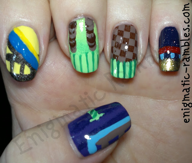 Sonic-The-Hedgehog-2-nails-nail-art-freehand-mega-drive