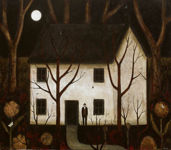 "Obras de arte, pintura: ""Wood House"" by John Caple, 2017"