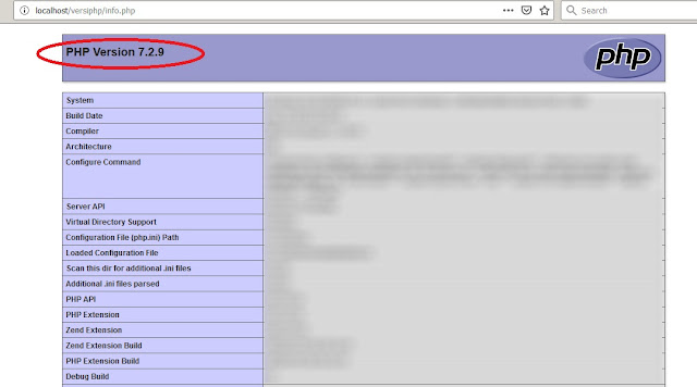 Mengetahui Versi PHP Yang Sedang Digunakan