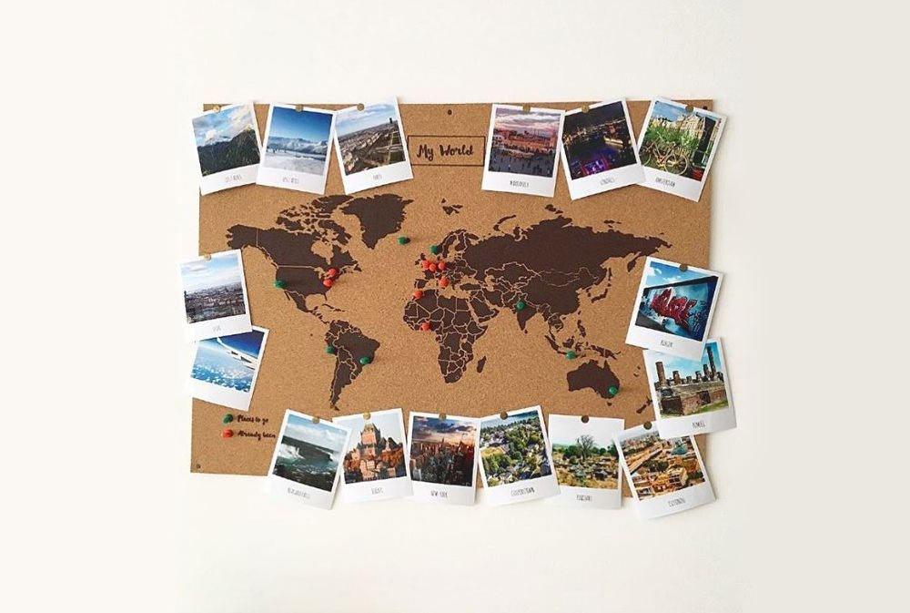 Pequefelicidad mis 10 mapas del mundo de pared favoritos - Mapa de corcho ...