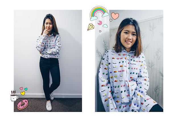 colourful pills printed shirt lazy oaf lazyoaf superga