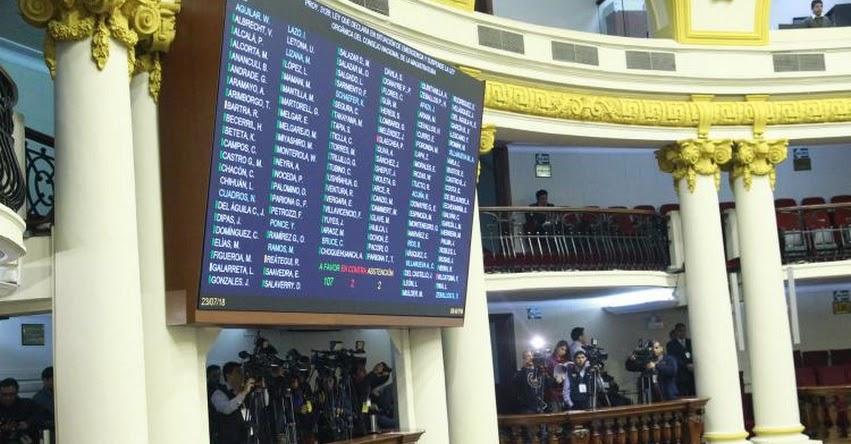 Congreso de la República aprueba retorno a la Bicameralidad